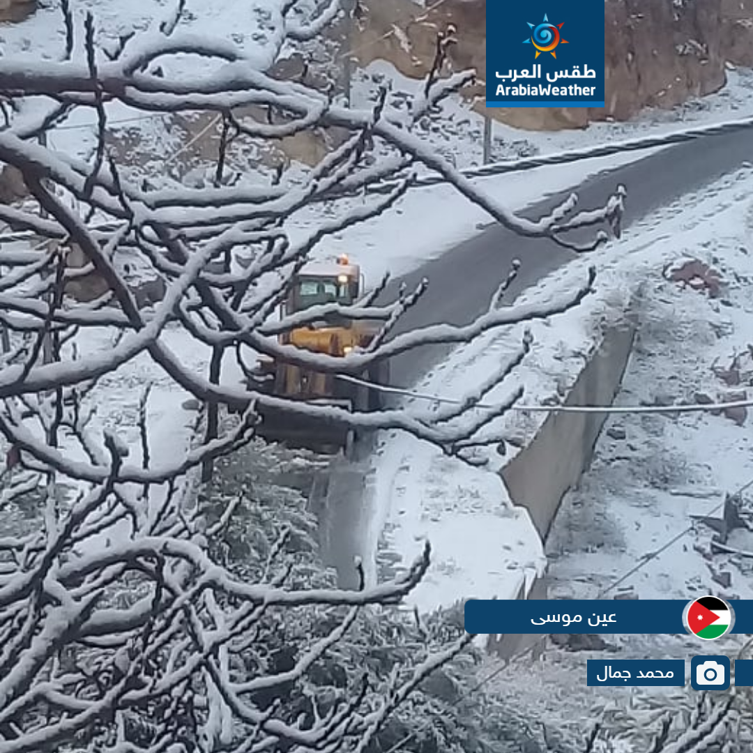 شاهد الصور | ازداد جنوب المملكة جمالاً بالرداء الأبيض صباح اليوم 18-2-2019