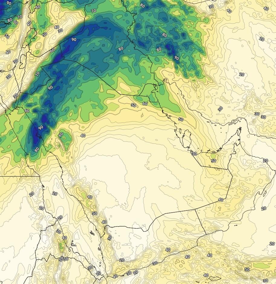 حالة قوية من عدم الأستقرار على شمال غرب السعودية